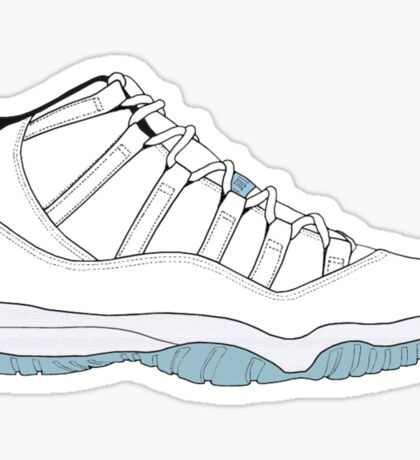"Air Jordan XI (11) ""Legend Blue"" Sticker"