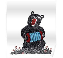 Music in the Heart, Bear with Blue Accordion Poster