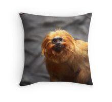 Golden Tamarin Lion  Throw Pillow