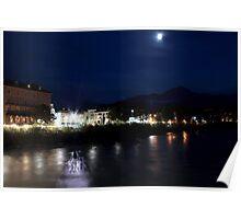 The Inn River at Innsbruck Poster
