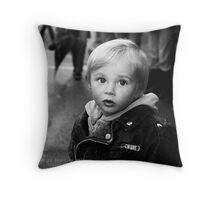 Child Portrait  Throw Pillow