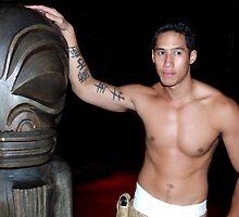 Tattooed Man, Tahiti by John Douglas