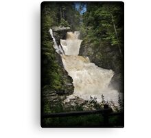 Raymondskill Falls Power Rush Canvas Print