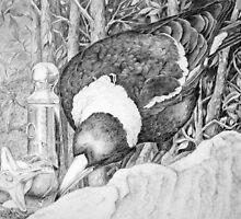 Thirsty Magpie by Lorraine  Stern