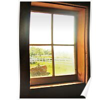 View from the barn window Poster
