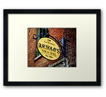A Bar and Grill in Cincinnati Framed Print
