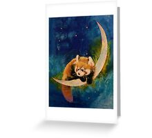 Red Panda Moon Greeting Card