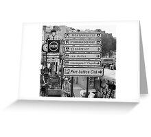 La vie à Paris Greeting Card