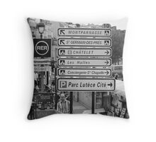La vie à Paris Throw Pillow