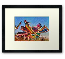 Carnival - A most colorful ride Framed Print
