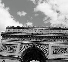 L'Arc de Triomphe en noir et blanc by kplata