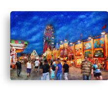 Carnival - The carnival at night Canvas Print