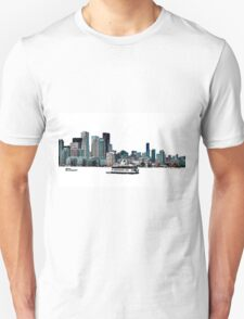 Toronto Port-lands with Island Ferry Unisex T-Shirt