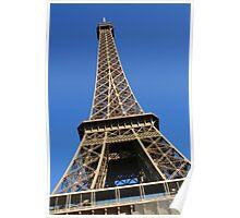 Le ciel bleu sur la Tour Eiffel Poster