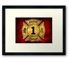 Fireman - Engine Company 1 Framed Print
