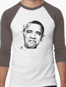 Awesome Barack Obama - Stencil - Street art Graffiti Popart Andy warhol by Jonny2may Men's Baseball ¾ T-Shirt