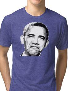 Awesome Barack Obama - Stencil - Street art Graffiti Popart Andy warhol by Jonny2may Tri-blend T-Shirt