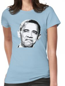 Awesome Barack Obama - Stencil - Street art Graffiti Popart Andy warhol by Jonny2may Womens Fitted T-Shirt