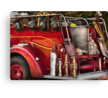Fireman - Ready for a fire Canvas Print