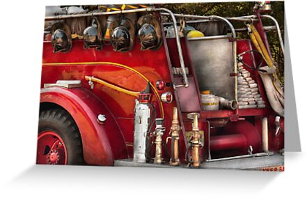Fireman - Ready for a fire by Mike  Savad