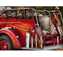 Fireman - Ready for a fire Photographic Print