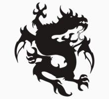 Mythical tribal dragon by Smaragdas