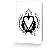 The Flying Tattoo Heart Greeting Card