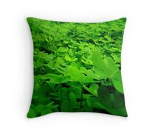sea of green. Throw Pillow