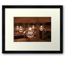 Chandelier Glow Framed Print
