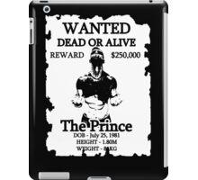 Wanted Prince Devitt - Carnage  (Finn Balor) T - Shirt iPad Case/Skin