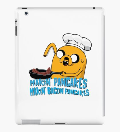 MAKIN' PANCAKES, MAKIN' BACON PANCAKES. iPad Case/Skin