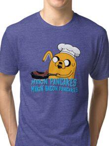 MAKIN' PANCAKES, MAKIN' BACON PANCAKES. Tri-blend T-Shirt