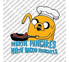 MAKIN' PANCAKES, MAKIN' BACON PANCAKES. Photographic Print
