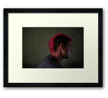 He dyes his hair Framed Print