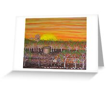 The Shearing Shed; Original Australian Acrylic Painting; FOR SALE Greeting Card