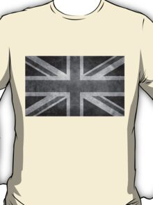 Union Jack Vintage 3:5 Version in grayscale T-Shirt