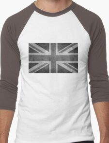 Union Jack Vintage 3:5 Version in grayscale Men's Baseball ¾ T-Shirt