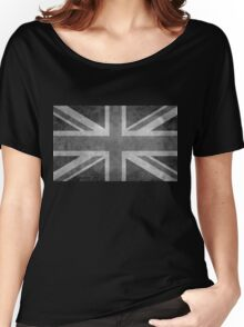 Union Jack Vintage 3:5 Version in grayscale Women's Relaxed Fit T-Shirt