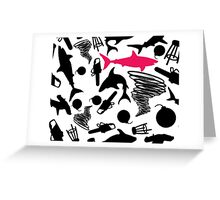 Sharks and Tornados with Bombs, Barstools, and Chainsaws Greeting Card