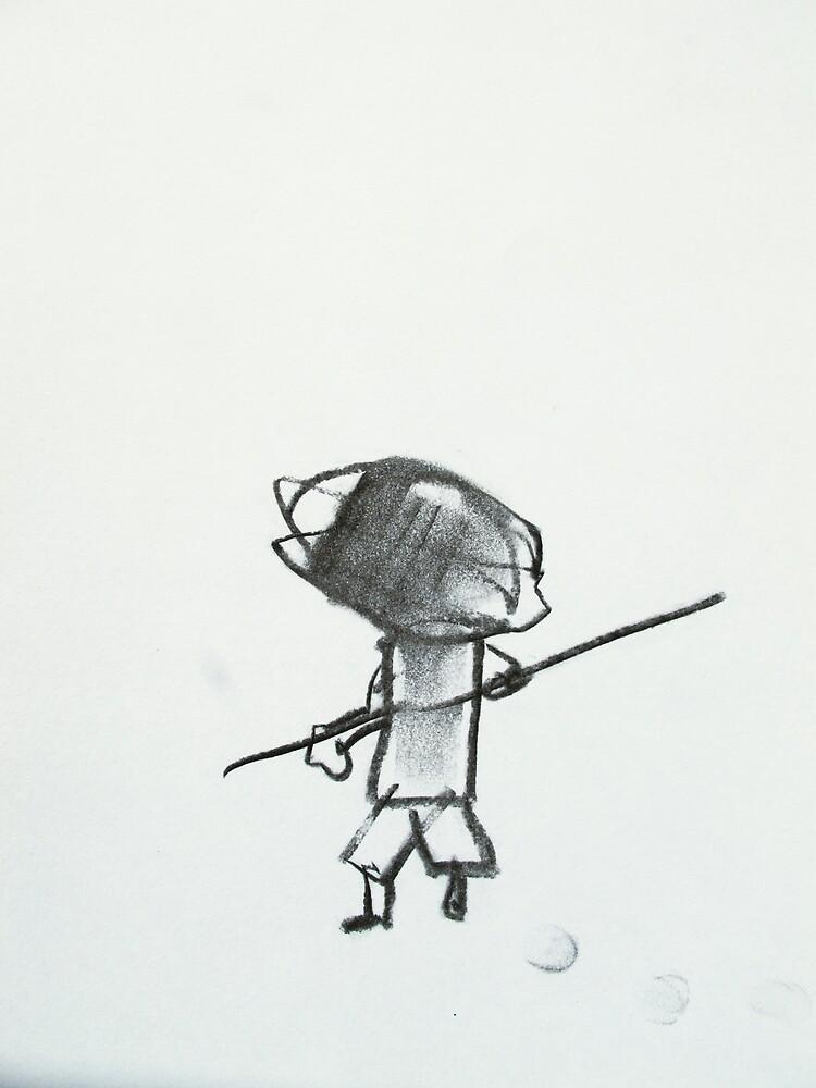 boy with stick by donna malone