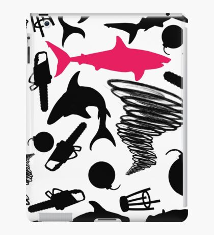 Sharks and Tornados with Bombs, Barstools, and Chainsaws iPad Case/Skin