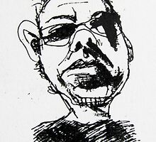 self portrait...(one a day for 49 days) by donna malone