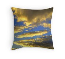 cotton clouds & sapphire skies. i Throw Pillow