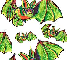 Colorful Big Eared Bat by theneitherworld