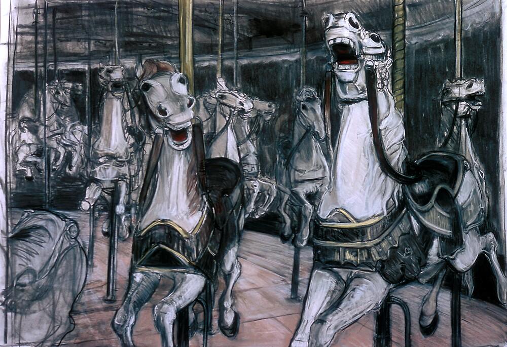 Carousel Horses by WoolleyWorld