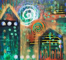 Feeling Your Way to Home: Inner Power Painting by mellierosetest