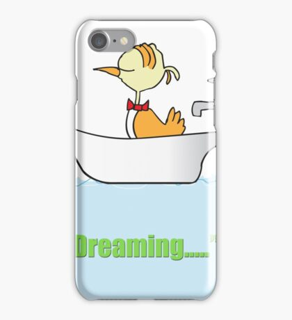 My Bird Is Dreaming In The Bath iPhone Case/Skin