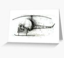 Skullcopter Greeting Card