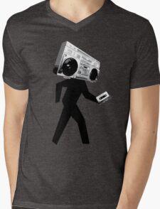Ghetto Blaster Man Mens V-Neck T-Shirt