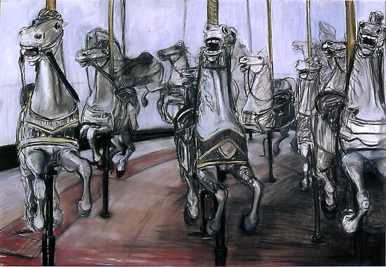 Carousel Horses #2 by WoolleyWorld